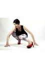 White-black-milk-leggings-red-red-suede-suzi-shier-pumps