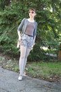 Silver-kunert-tights-charcoal-gray-h-m-shorts-bubble-gum-givenchy-sunglasses