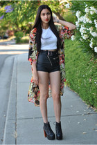 floral kimono see you monday cardigan - platforms Jeffrey Campbell shoes