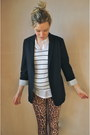 Mustard-leopard-print-topshop-leggings-navy-navy-topshop-blazer
