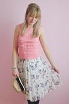 cream Primark skirt - bubble gum Topshop top