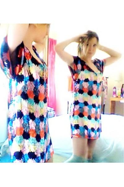 sequined FCUK dress - long Topshop socks