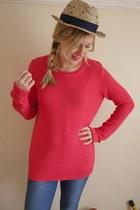 hot pink Topshop jumper