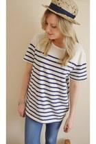 blue striped Topman t-shirt