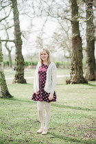 maroon polka dot Topshop dress