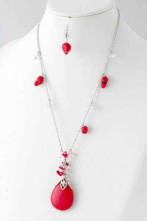 red Emma Stine necklace