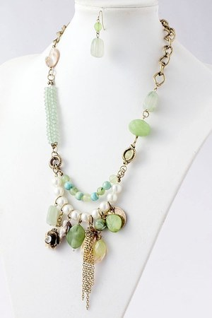 chartreuse Emma Stine necklace