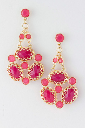 pink Emma Stine earrings