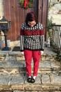 Black-forever-21-sweater-red-loft-pants-black-faniel-glasses