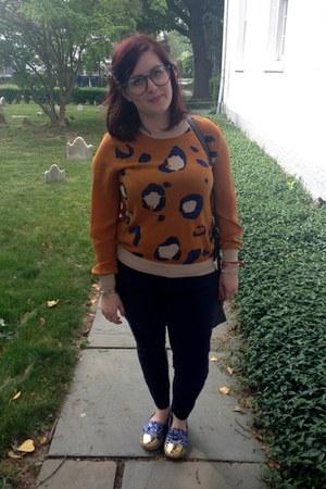 blue Lilly for Target flats - burnt orange 31 Phillip Lim for Target sweater