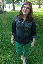 green Old Navy pants - navy Urban Outfitters blouse