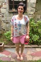 salmon Target sandals - hot pink Rebecca Minkoff bag