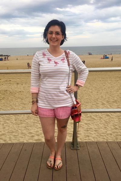 light pink Target sandals - hot pink Rebecca Minkoff bag