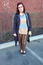orange Anthropologie pants - violet Kirna Zabete at Target jacket