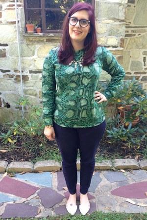 green Altuzarra for target sweatshirt - gold kohls necklace