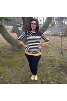 navy Marshalls sweater - navy Warby Parker glasses - navy Gap pants