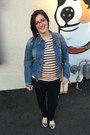 Blue-gap-jacket-white-adam-lippes-for-target-bag-black-thrifted-pants