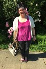 White-sundance-sweater-hot-pink-steve-madden-glasses-hot-pink-vintage-top