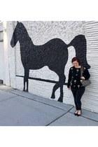 black Primark jeans - black vintage sweater - black Vera Bradly bag