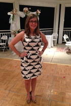 gold baublebar necklace - white Tinley Road dress - black firmoo glasses