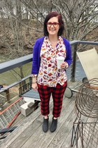 red Old Navy pants - black Walmart boots - white Kendra Scott necklace