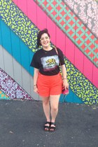 black concert t-shirt t-shirt - hot pink Rebecca Minkoff bag