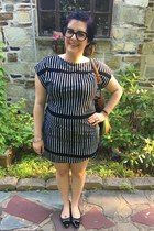 black Marimekko for Target dress - green Dooney & Bourke bag