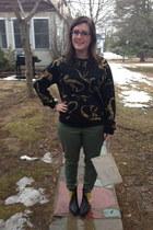 black Forever 21 sweatshirt - black Forever 21 boots - white Michael Kors bag