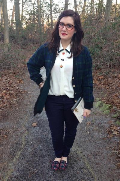white vintage blouse - pink kate spade bag