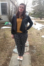 silver Urban Outfitters necklace - black Rue 21 cardigan - orange StyleMint top