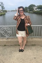 carrot orange Princeton blazer - white Walmart shorts - black Megan Nelson top