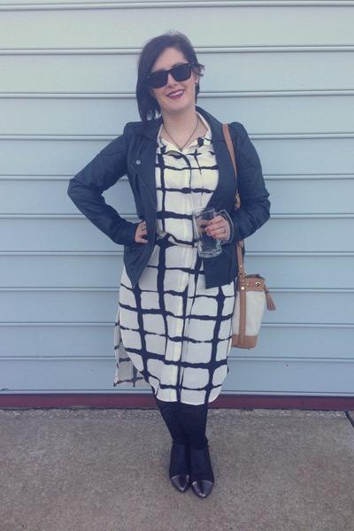 black Marshalls boots - white Adam Lippes for Target dress