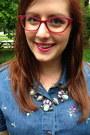 Hot-pink-steve-madden-glasses-sky-blue-gift-necklace