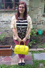 Yellow-kate-spade-bag-off-white-vintage-cardigan