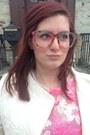 White-bcbg-blazer-bubble-gum-glasseslit-glasses-hot-pink-h-m-top