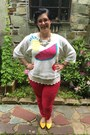 Hot-pink-gap-jeans-white-vintage-sweater-white-anthropologie-top