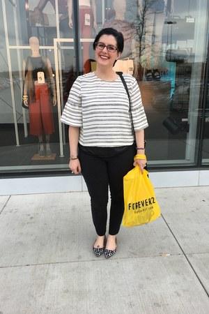 black kensie bag - white Who What Wear x Target blouse - gray Loft t-shirt