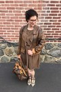 Light-brown-vintage-dress-light-brown-vintage-jacket-brown-louis-vuitton-bag