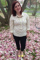 white Anthropologie top - light pink Coastal glasses - white Old Navy blouse