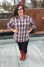 Red-vintage-boots-navy-walmart-leggings-red-thrifted-vintage-top