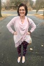 Light-pink-whoa-wait-walmart-sweater-deep-purple-lularoe-leggings