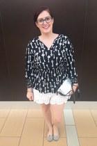 white Eddie Borgo for Target bag - white Anthropologie shorts - black Macys top