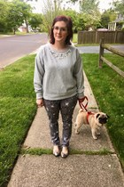 silver Lafont glasses - heather gray Marc by Marc Jacobs pants