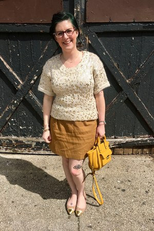 eggshell second hand sweater - yellow 31 Phillip Lim x Target bag