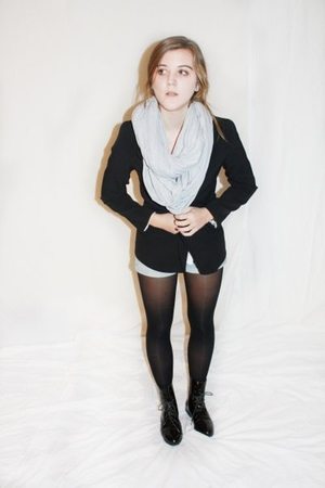 thrifted boots - Nordstroms blazer - American Apparel scarf
