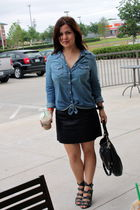 Gap shirt - J Crew skirt - surface to air shoes - Marc by Marc Jacobs purse