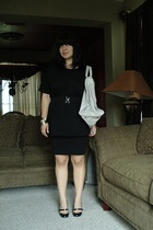 American Apparel shirt - American Apparel dress - Christian Louboutin shoes - ba