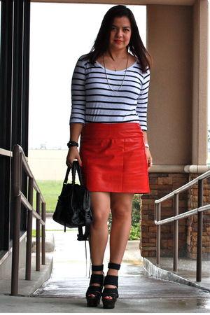 H&M t-shirt - custom made by mom skirt - Burberry Prorsum shoes - balenciaga bag