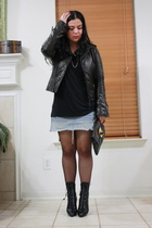 American Apparel shirt - abercrombie and fitch skirt - Prada boots - balenciaga