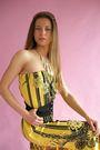 Yellow-mr-dino-dress-black-battani-shoes